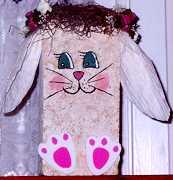 Easter Bunny Doorstop