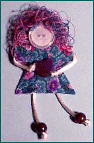 Button Lady Pin