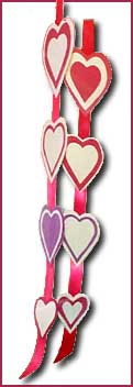 Cut-out hearts mobile