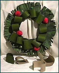 Cardboard Tube Wreath