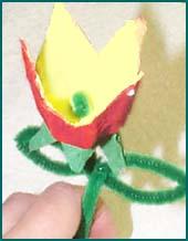 Tie the chenille in the center