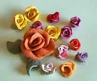 dough roses
